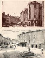 2 CPA LANGOGNE. Bld Landos, Commerces Sanivel, Barges, Mode, Grand Boulevard, Stephanoise. - Langogne