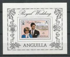 Anguilla 1981 BL 38 ** Mariage Prince Charles Diana Château Buckingham Armoiries - Anguilla (1968-...)