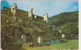 GRANDES  ANTILLES,ile Hispaniola,HAITI,ruines Palais De Sans Souci,ruins,vestiges,3 Timbres - Haïti