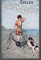 Cycles DE DION BOUTON  (carte Ancienne Ed J Barreau) (PPP8158) - Advertising