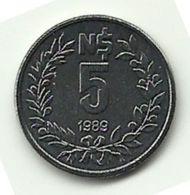 1989 - Uruguay 5 Nuevos Pesos, - Uruguay