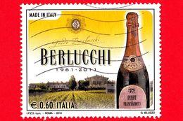 ITALIA - Usato - 2010 - Made In Italy - Vino Spumante Berlucchi - Wineries - 0,60 - 6. 1946-.. Repubblica