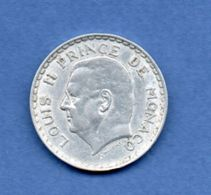 Monaco  -- 5 Francs 1945  --  Km # 122 --  état  TTB - Mónaco