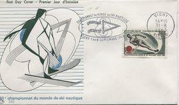 SKI NAUTIQUE (Yv. N° 1395) 1er Jour; Flamme Concordante VICHY / 1963 - 1960-1969