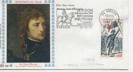 LE PONT D'ARCOLE (Yv. N° 1730) 1er Jour; Flamme Concordante . HIRSON / 1972 - 1970-1979
