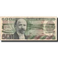 Billet, Mexique, 500 Pesos, 1984, 1984-08-07, KM:79b, TTB - Mexique