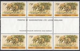 Tanzania 1980 Sc. 168 Mammiferi Giraffe Nuovo - Giraffes