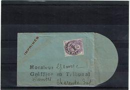 LBX1- PREOBLITERE BLANC 10c SUR PETITE ENVELOPPE - 1893-1947
