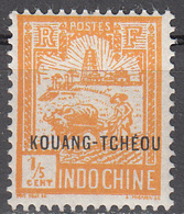 FRENCH OFFICES--KOUANG-TCHEOU     SCOTT NO. 76   MINT HINGED   YEAR  1927 - Unused Stamps