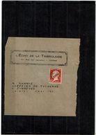 LBX1- PREOBLITERE PASTEUR 45c SUR FRAGMENT DE MANCHETTE - Préoblitérés