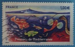 France 2016 : Euromed Postal. Faune, Poisson De La Mer Méditerranée N° 5077 Oblitéré - Oblitérés