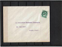 LBX1- PREOBLITERE BLANC 5c SUR ENVELOPPE - 1893-1947