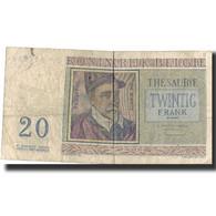 Billet, Belgique, 20 Francs, 1966, 1966-04-03, KM:132b, TB - 20 Francs