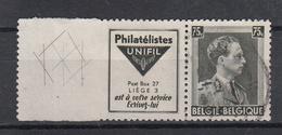 BELGIË - OPB - 1938/39 - PU 119 - Gest/Obl/Us - Advertising