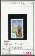 Andorra - Andorre Francaise - Michel  601 - ** Mnh Neuf Postfris - French Andorra