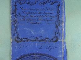 Acte Notarié 1856 Vente Bernard De Chimay à Hardy De Vaulx /4/ - Manuscrits
