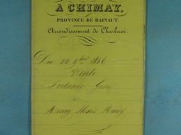 Acte Notarié 1856 Vente Gosée De Neufmaisons à Hardy De Vaulx /5/ - Manuscrits