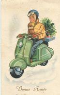 Moto Vespa Ou Scooter - Nieuwjaar