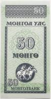 Billete Mongolia. 50 Mongo. 1993. Caballos. Sin Circular - Mongolia