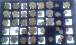 MONNAIES BYZANTINES ET ROMAINES (42 Monnaies) à Déterminer ! - Bizantine