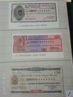 3 Mini Assegni Circolati Anni 1970 N. 2 - [10] Assegni E Miniassegni