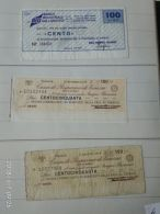 3 Mini Assegni Circolati Anni 1970 N. 4 - [10] Assegni E Miniassegni