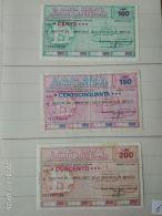 3 Mini Assegni Circolati Anni 1970 N. 6 - [10] Assegni E Miniassegni