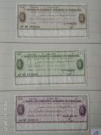 3 Mini Assegni Circolati Anni 1970 N. 12 - [10] Assegni E Miniassegni