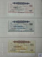 3 Mini Assegni Circolati Anni 1970 N. 16 - [10] Assegni E Miniassegni