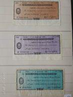 3 Mini Assegni Circolati Anni 1970 N. 17 - [10] Assegni E Miniassegni