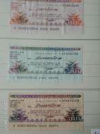 3 Mini Assegni Circolati Anni 1970 N. 20 - [10] Assegni E Miniassegni