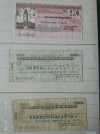 3 Mini Assegni Circolati Anni 1970 N. 23 - [10] Assegni E Miniassegni
