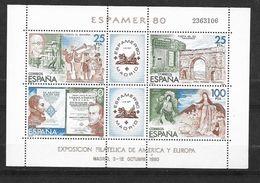 Espagne Bloc N° 27 Exposition Philatélique Espamer  1980   Neuf * * TB= MNH VF    Soldé ....... - 1971-80 Nuevos & Fijasellos