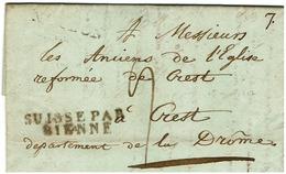 Marque D'Entée - SUISSE PAR BIENNE - 1807 - Lettre De MOUDON 1/51812 ( BERNE) Pour Crest - Storia Postale
