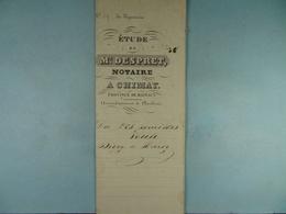 Acte Notarié 1853 Vente Divry De Baileux à Hardy De Vaulx /7/ - Manuscrits