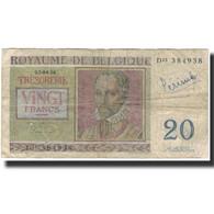 Billet, Belgique, 20 Francs, 1956-04-03, KM:132b, AB+ - 20 Francs