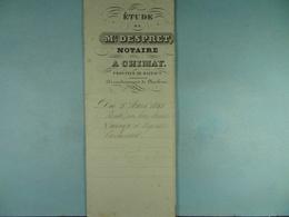 Acte Notarié 1853 Vente De Lahaye De Couvin à Coulonval De Vaulx /8/ - Manuscrits