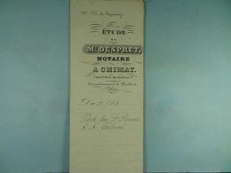 Acte Notarié 1853 Vente Blemont De Baileux à Coulonval De Vaulx /9/ - Manuscrits