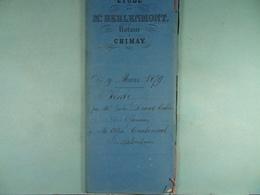 Acte Notarié 1879 Vente Tellier De Chimay à Coulonval De Baileux /10/ - Manuscrits