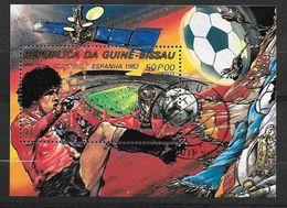 Guinée Bissau  Bloc N°32 Football Coupe Du Monde Espagne 1982 Oblitéré TB Soldé ....... - World Cup
