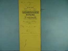Acte Notarié 1876 Vente Crosset De Vaulx à Coulonval De Baileux /11/ - Manuscrits