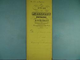Acte Notarié 1861 Vente Canivez De Baileux à Coulonval De Vaulx /12/ - Manuscrits