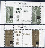Malta 1974 - Europa Cept - Set With Vignettes MNH** - Europa-CEPT
