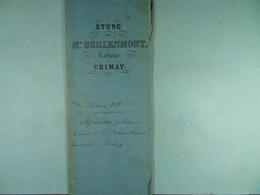 Acte Notarié 1876 Adjudication Publique  Delers De Blaimont à Différents Acheteurs /13/ - Manuscrits