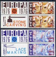 Malta 1976 - Europa Cept - Set With Vignettes MNH** - Europa-CEPT