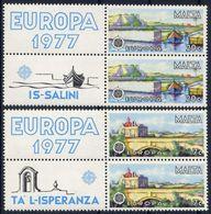Malta 1977 - Europa Cept - Set With Vignettes MNH** - Europa-CEPT