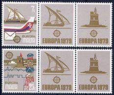 Malta 1979 - Europa Cept - Set With Vignettes MNH** - Europa-CEPT