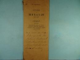 Acte Notarié 1892 Echange Entre Coulonval De Baileux Et Hombert Du Dit Lieu /14/ - Manuscrits