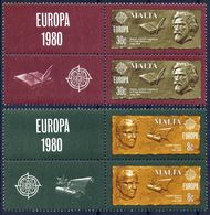 Malta 1980 - Europa Cept - Set With Vignettes MNH** - Europa-CEPT