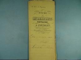Acte Notarié 1861 Vente De Lambotte De Seloignes à François De Seloignes /15/ - Manuscrits